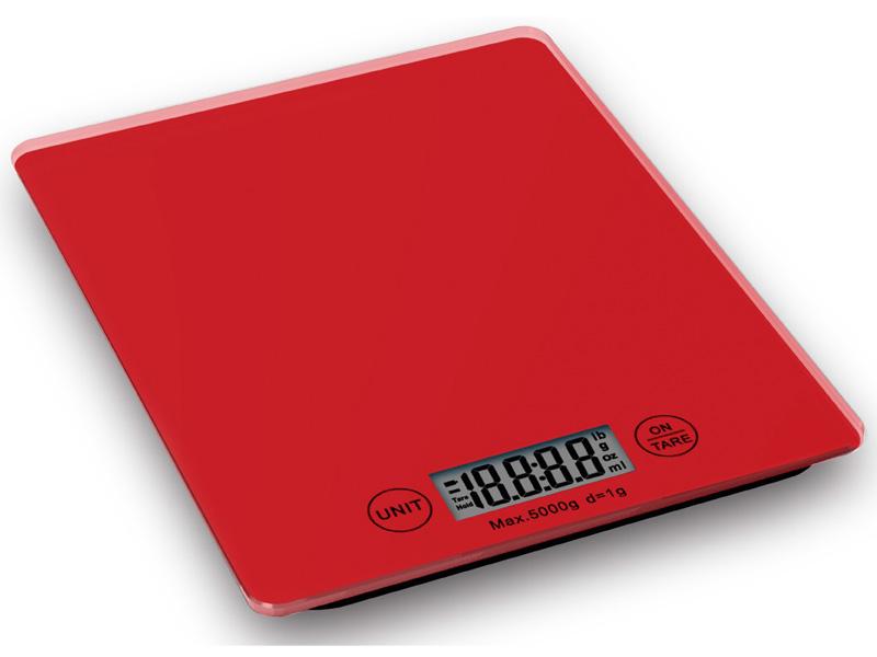Weis Kuchyňská digitální váha červená