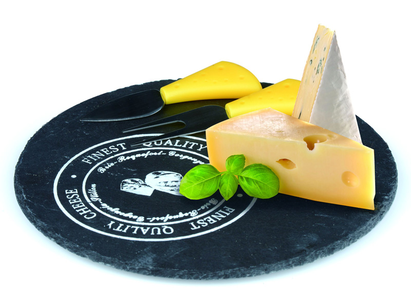 Alpina Prkénko na sýr, sada s noži