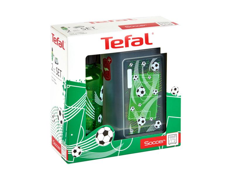 Tefal Sada dóza a láhev na pití KIDS zelenočerná - fotbal