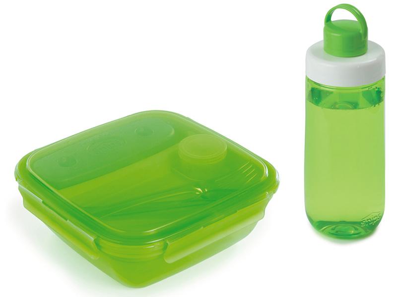 Snips Láhev na pití + Box na oběd, zelená