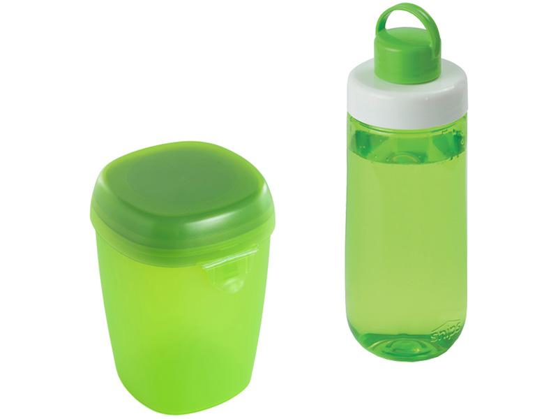Snips Láhev na pití + Box na jogurt, zelená