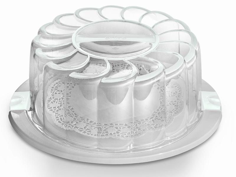 Snips Box na dort s podnosem, bílý
